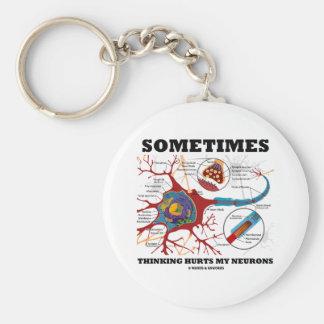 A veces el pensamiento daña mis neuronas llavero personalizado
