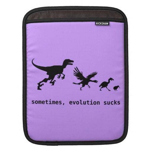 A veces, la evolución chupa manga de iPad