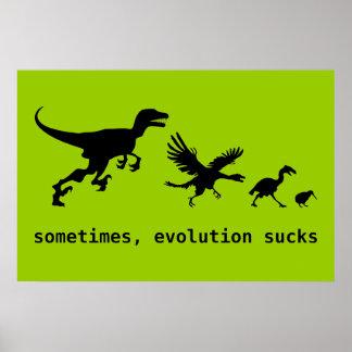 A veces, la evolución chupa póster