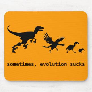 A veces, la evolución chupa tapete de raton
