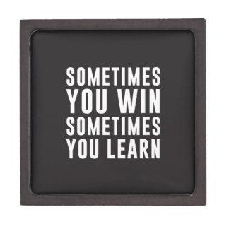A veces usted triunfo, usted aprende a veces cajas de regalo de calidad
