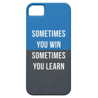A veces usted triunfo, usted perdió a veces iPhone 5 cárcasas
