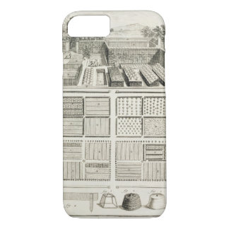 A vegetable garden, from 'The Encyclopedia of Scie iPhone 8/7 Case
