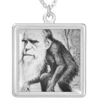 A Venerable Orang Outang, from 'The Hornet' Silver Plated Necklace