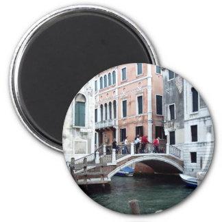 A Venetian bridge 2 Inch Round Magnet
