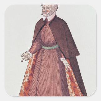 A Venetian Merchant Square Sticker