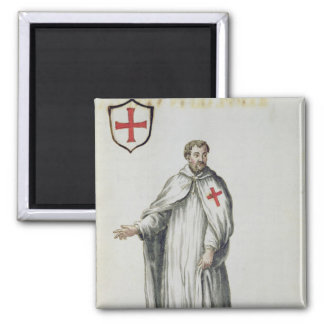 A Venetian Templar 2 Inch Square Magnet