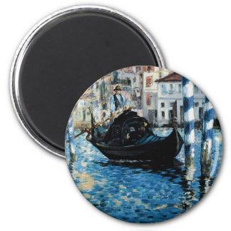 À Venise - Eduardo Manet del Gran Canal del Le Imán Redondo 5 Cm