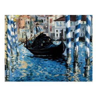 À Venise - Eduardo Manet del Gran Canal del Le Tarjeta Postal