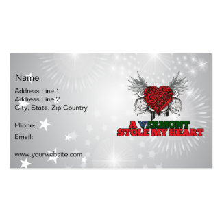 A Vermont Stole my Heart Business Card