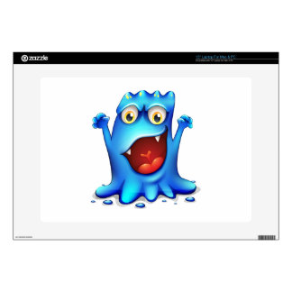 A very angry blue monster laptop skins