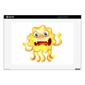 """A very angry yellow monster decals for 15"""" laptops"""