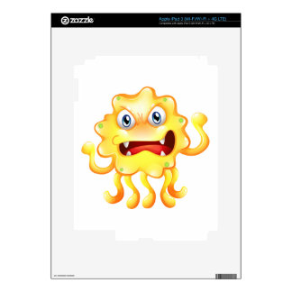 A very angry yellow monster iPad 3 skins