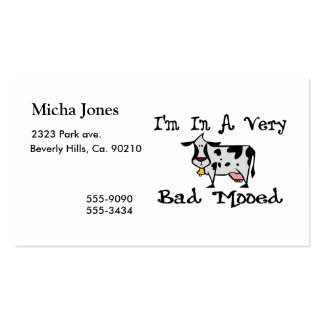 A Very Bad Mooed Business Card Template