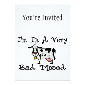 A Very Bad Mooed 5x7 Paper Invitation Card