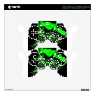 A Very Bright Neon Green Train Engine Decal For PS3 Controller