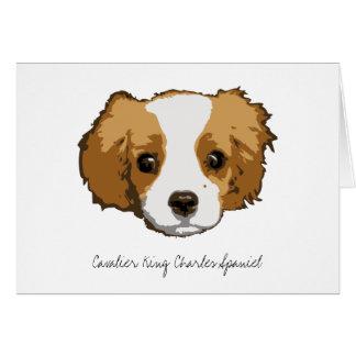 A Very Cavalier Blank Greeting Card
