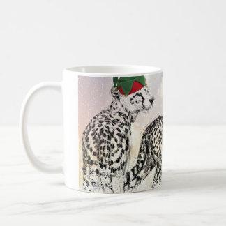 A Very Cheetah Christmas Wraparound Classic White Coffee Mug