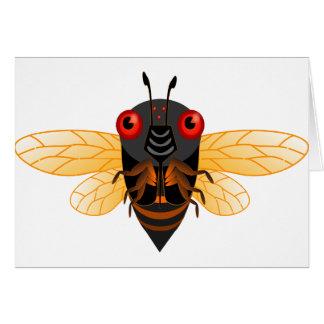 A very cute 17 year cicada card