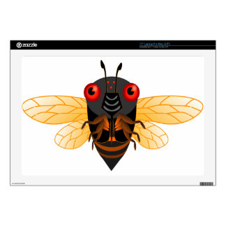 A very cute 17 year cicada skin for laptop