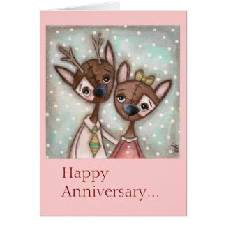 A Very Deer Couple - Anniversary Card