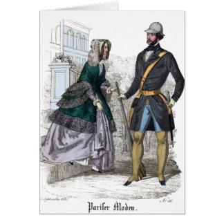 A Very Fine Weapon - Suggestive Biedermeier Print Card