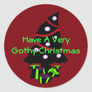A Very Gothy Christmas Classic Round Sticker