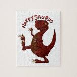 A very happy happysaurus dinosaur puzzle