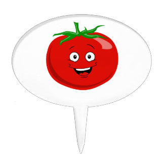 A Very Happy Red Tomato Cake Topper