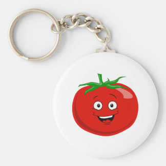 A Very Happy Red Tomato Keychain