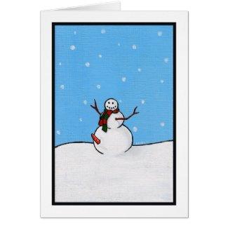 A very happy snowman card