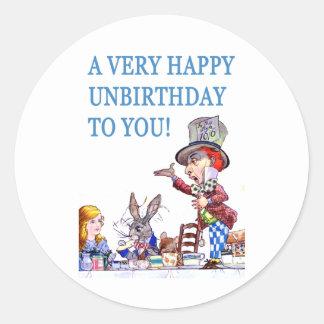 A Very Happy Unbirthday To You! Classic Round Sticker