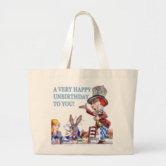 A Very Happy Unbirthday To You! Large Tote Bag