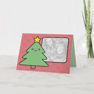 A Very Kawaii Christmas Card Photo Template card