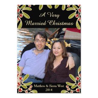 A Very Married Christmas Mistletoe Photo Card