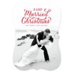 A very Married Christmas Newlywed Photo Card