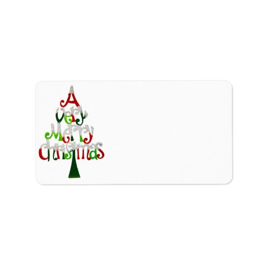 A Very Merry CHristmas Address Label