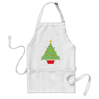 a very merry christmas adult apron