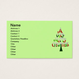 A Very Merry Christmas Business Card