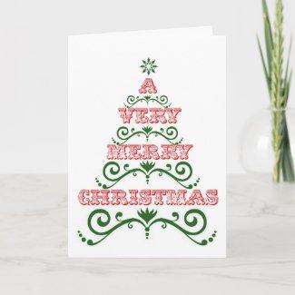 A Very Merry Christmas Card card