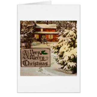 A Very Merry Christmas Classic Traditional Winter Card