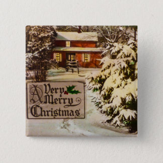 A Very Merry Christmas Classic Traditional Winter Pinback Button