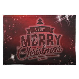 A Very Merry Christmas Cloth Placemat