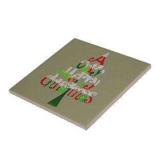 A Very Merry Christmas Gift Collection Ceramic Tile