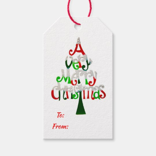 Very Merry Christmas.A Very Merry Christmas Gift Tags
