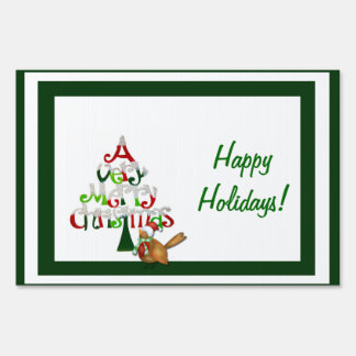 A Very Merry Christmas Holiday Lawn Sign