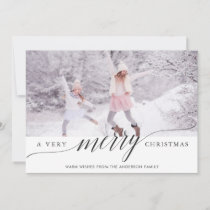 A Very Merry Christmas Holiday Photo Card