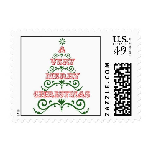A Very Merry Christmas Holiday Stamp