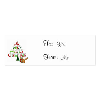 A Very Merry Christmas Holiday with A Bird Mini Business Card