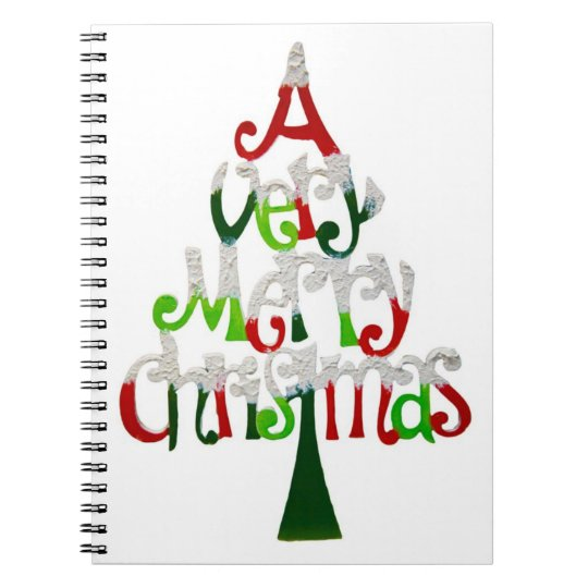 A Very Merry Christmas Notebook